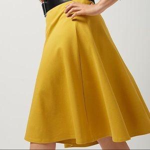 Mustard yellow circle skirt